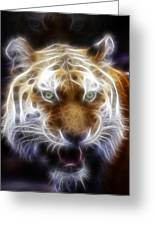 Tiger Greatness Digital Painting Greeting Card