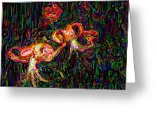 Tiger Lilies Abstract Greeting Card