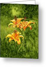 Tiger Lilies Greeting Card