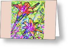 Tiger Lillies Greeting Card