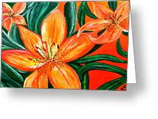 Tiger Lily Trio Greeting Card