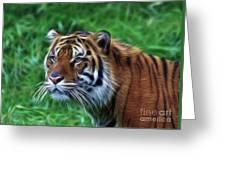 Tiger Profile Greeting Card