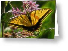 Tiger Swallowtail Digital Art Greeting Card