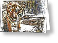 Tiger View Greeting Card