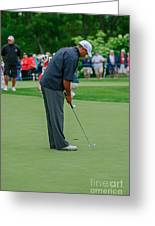 D12w-457 Tiger Woods Greeting Card