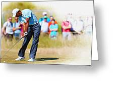 Tiger Woods - The British Open Golf Championship Greeting Card