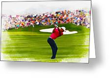 Tiger Woods - The Waste Management Phoenix Open  Greeting Card