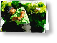 Tiger Woods - Wgc- Cadillac Championship Greeting Card