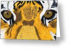 Tiger's Eyes Greeting Card by Bav Patel