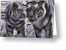 Tigers Photo Art 02 Greeting Card