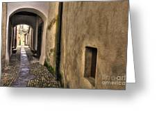 Tight Alley With Arch Greeting Card