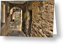 Tight Stone Alley Greeting Card