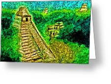 Tikal By Jrr Greeting Card