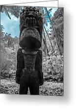 Tiki Man In Infrared Greeting Card