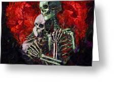 Til Death Greeting Card by Christopher Lane