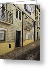 Tile Walls Of Lisbon Greeting Card