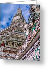 Tile Work On Wat Arun Bankok Greeting Card