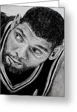Tim Duncan Drawing The Champ Is Here Greeting Card
