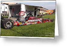 Tim Irwin Dragster Greeting Card