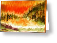 Timber Blaze Greeting Card