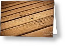 Timber Decking Greeting Card