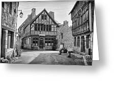 Timber Framed Houses In France Greeting Card