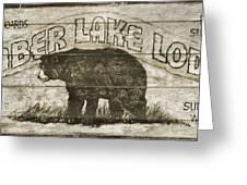 Timber Lake Lodge Greeting Card