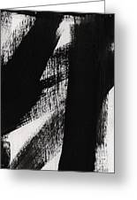 Timber- Vertical Abstract Black And White Painting Greeting Card