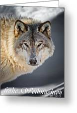 Timber Wolf Christmas Card German 21 Greeting Card