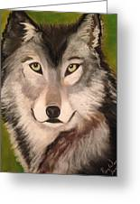 Timber Wolf In Summer Greeting Card
