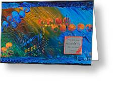 Time Abstract Greeting Card
