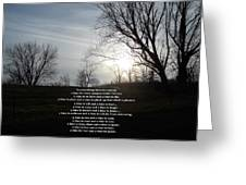 Time And Seasons Greeting Card