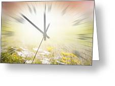 Time Blurred Greeting Card