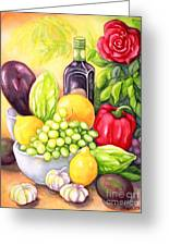 Time For Fruits And Vegetables Greeting Card