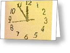 Time Fracture Greeting Card
