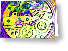 Time In Abstract 20130605m144 Square Greeting Card