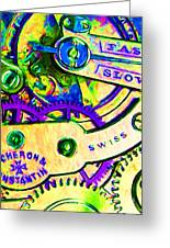 Time In Abstract 20130605m144 Greeting Card by Wingsdomain Art and Photography