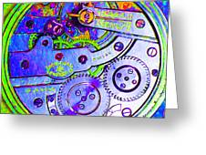 Time In Abstract 20130605m36 Square Greeting Card