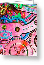 Time In Abstract 20130605p144 Long Greeting Card by Wingsdomain Art and Photography