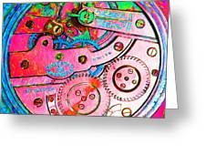 Time In Abstract 20130605p144 Square Greeting Card
