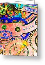 Time In Abstract 20130605p180 Long Greeting Card by Wingsdomain Art and Photography