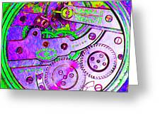 Time In Abstract 20130605p72 Square Greeting Card