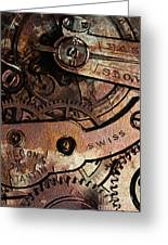 Time In Abstract 20130605rust Greeting Card