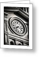 Time In Black And White Greeting Card by Brenda Bryant
