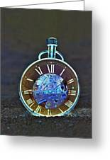 Time In The Sand In Negative Greeting Card