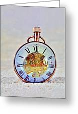 Time In The Sand Greeting Card