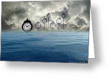 Time Is Floating Greeting Card