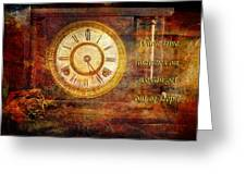 Time Marching Greeting Card