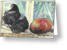 Chicks Taking A Time Out Greeting Card