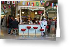Time Out Snack Bar In Bath England Greeting Card